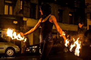 Sita O'Driscoll, Sea Road, Blue Note, Fire, Galway Community Circus, Galway, Ireland